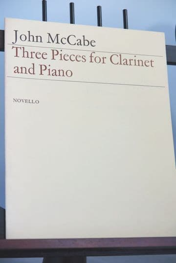 McCabe J - Three Pieces for Clarinet & Piano